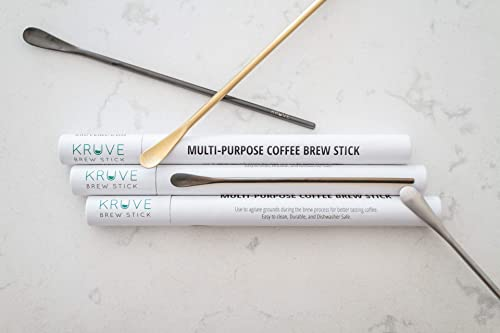 KRUVE Multi-Purpose Coffee Brew Stick, Use To Agitate Grounds During The Brew Process When Making Pour Over, French Press Or Other Brew Method, 8.5 inch Stainless Steel Silver