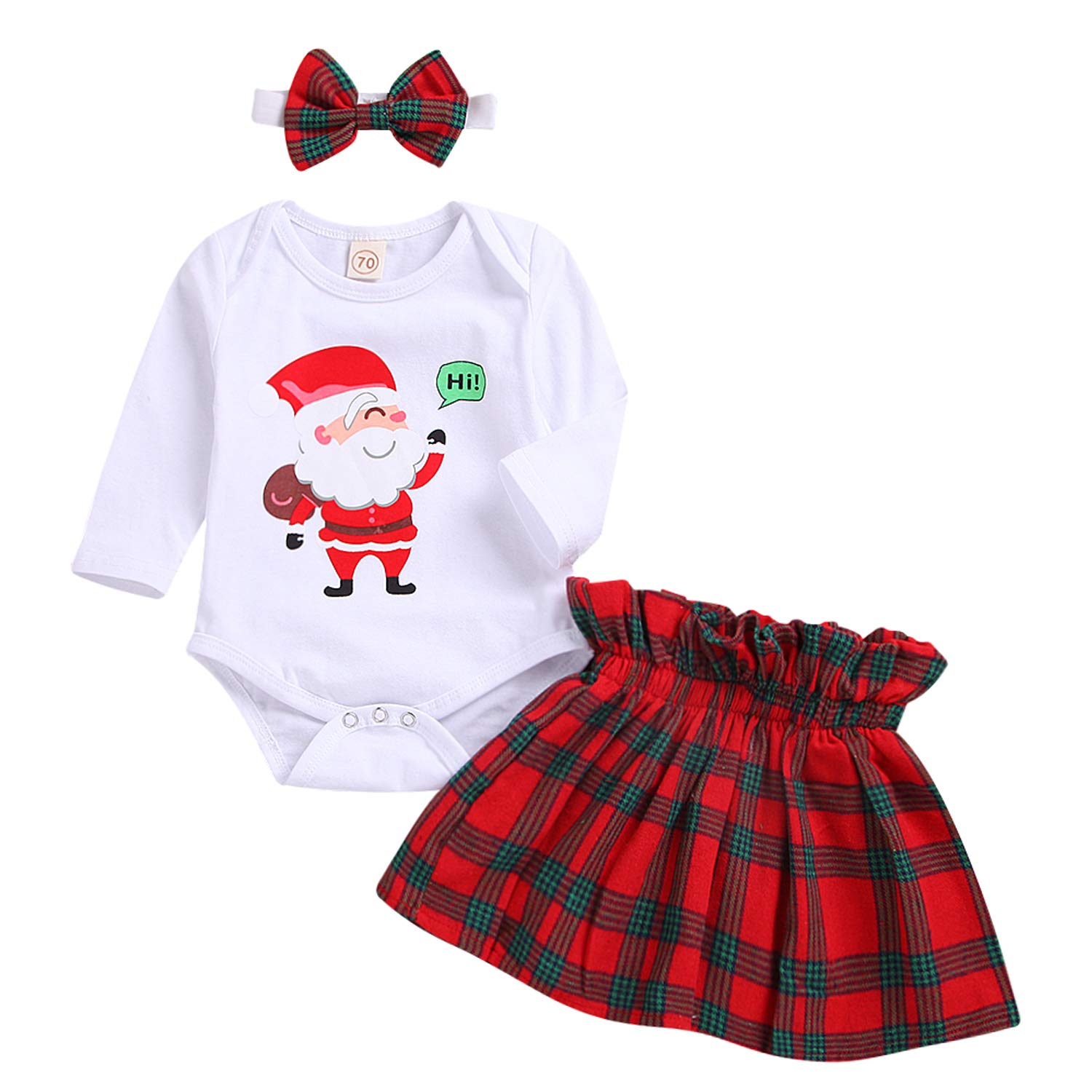 MAMOWEAR Newborn Baby Girl Christmas Outfits My First Christmas ...