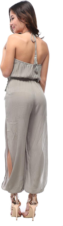 OTW Womens Wide-Leg Beach Party Club Boho Print Print Off Shoulder Jumpsuit Romper