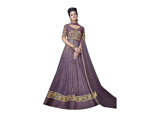698beb8143 Amazon.com: Designer Party Wear Gown Long Dress Bollywood Indian Ethnic  Wedding Women Muslim Bridal Embroidery Zari Work 640 (Violet): Clothing