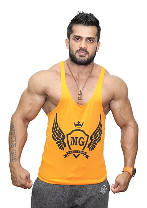e0228374f52f6 Buy Muscle God Men s Cotton Stringers Online at Low Prices in India ...