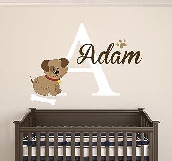 Amazoncom Dog Custom Name Wall Decal Baby Room Decoration - Custom vinyl wall decals dogs