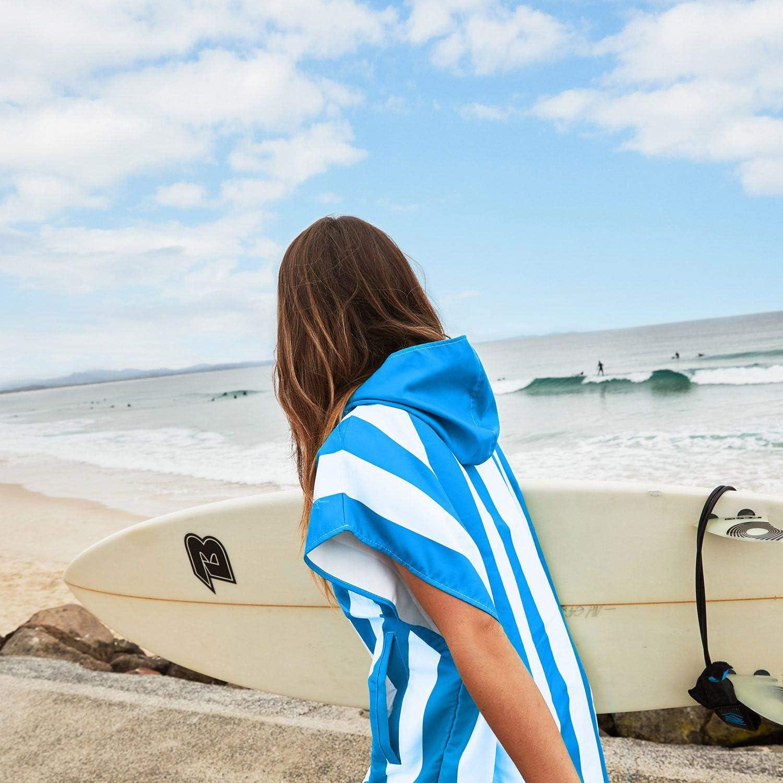 Dock /& Bay Erwachsener Kapuzenhandtuch Bad Strand Surf und Pool Poncho Schnellwechsel Handtuch