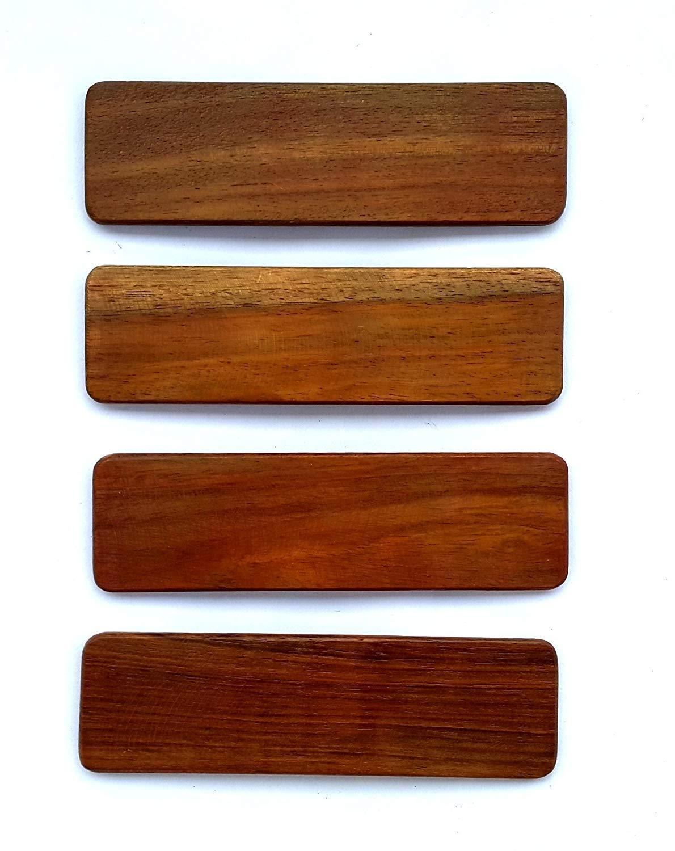 Khartal Sheesham Wood Jaisalmer Khartal 1 set (4 piece) by 95masharda