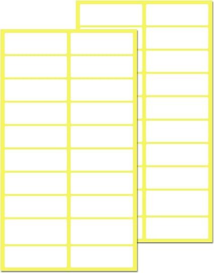 Pack de 500, 38 x 13 mm - Etiquetas Adhesivas Blancas Pegatinas: Amazon.es: Oficina y papelería