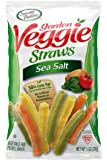 Sensible Portions Garden Veggie Straws, Sea Salt, 1 Ounce (Pack of 6)