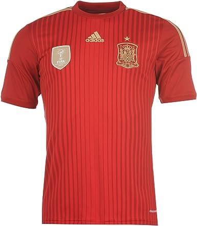 adidas Camiseta de La Bandera de España 2014 de Manga Corta Para Niño Fútbol Camiseta Para Hombre T-Shirt EN La Parte Superior y: Amazon.es: Ropa y accesorios