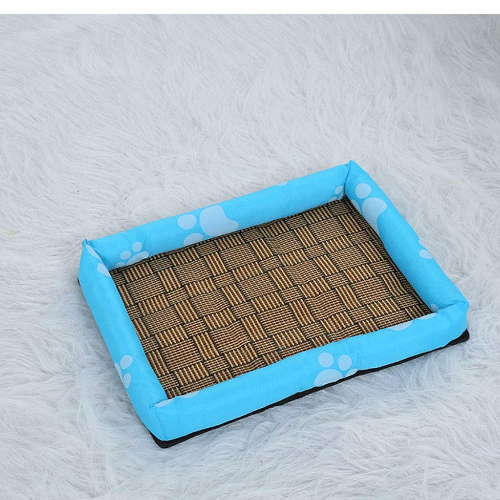 Bronze XX-Large Bronze XX-Large Dog Bed Cat Bed Pet Nest Summer Mat Ice Kennel Print Tarpaulin Cat Kennel Mat Size Dog General Pet Bed (color   Bronze, Size   XXL)