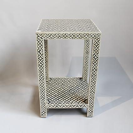 Ordinaire Bone Inlay Side Table Grey
