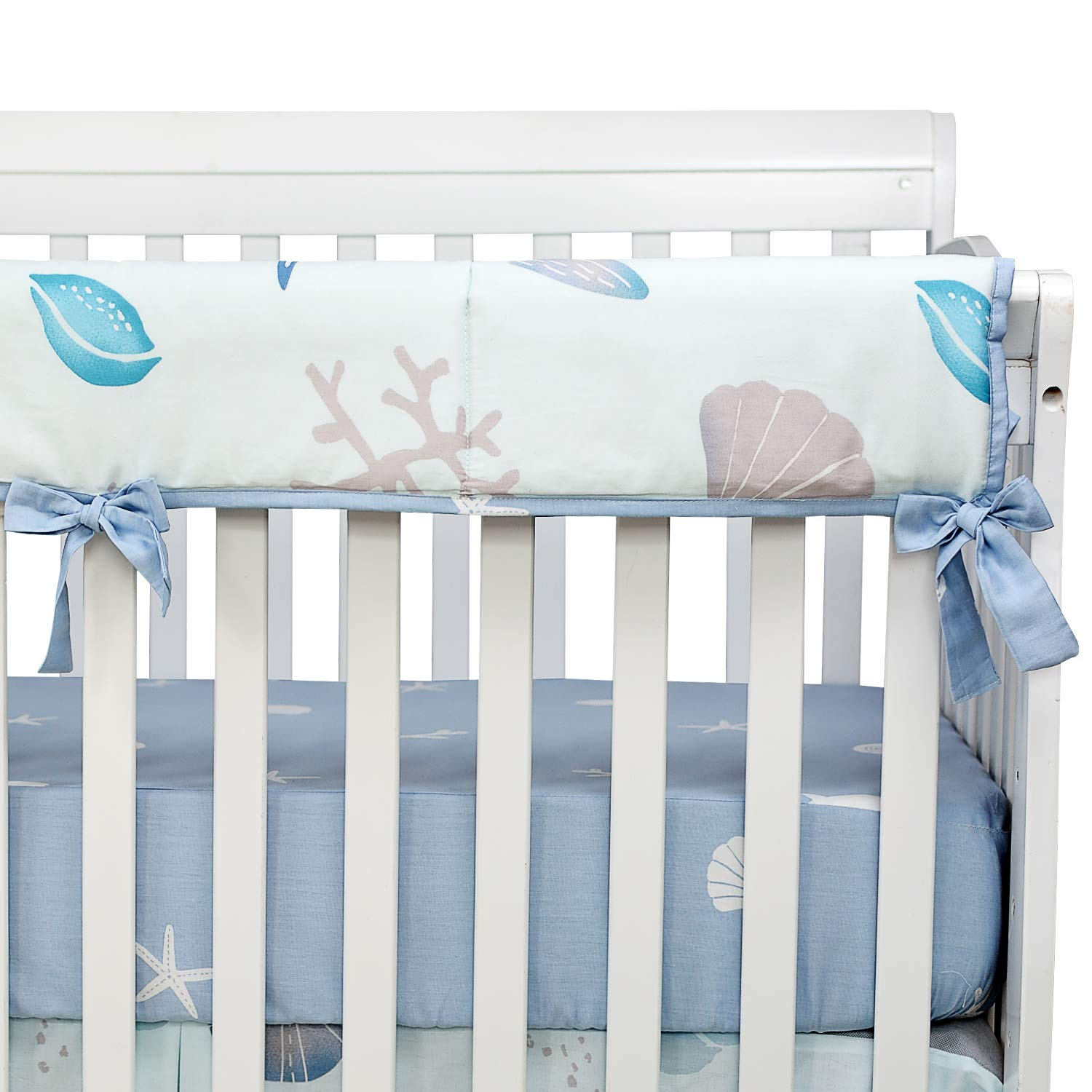 Blue//White Hot Baby Shower Gift Brandream Crib Bedding Sets Unisex 100/% Cotton Ocean Animal Starfish Nursery Bedding Set 3 Piece Beach Theme