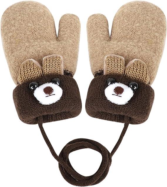 Winter Warm Kids Toddler Boys Girls Thick Thermal Gloves Soft Childrens Mittens
