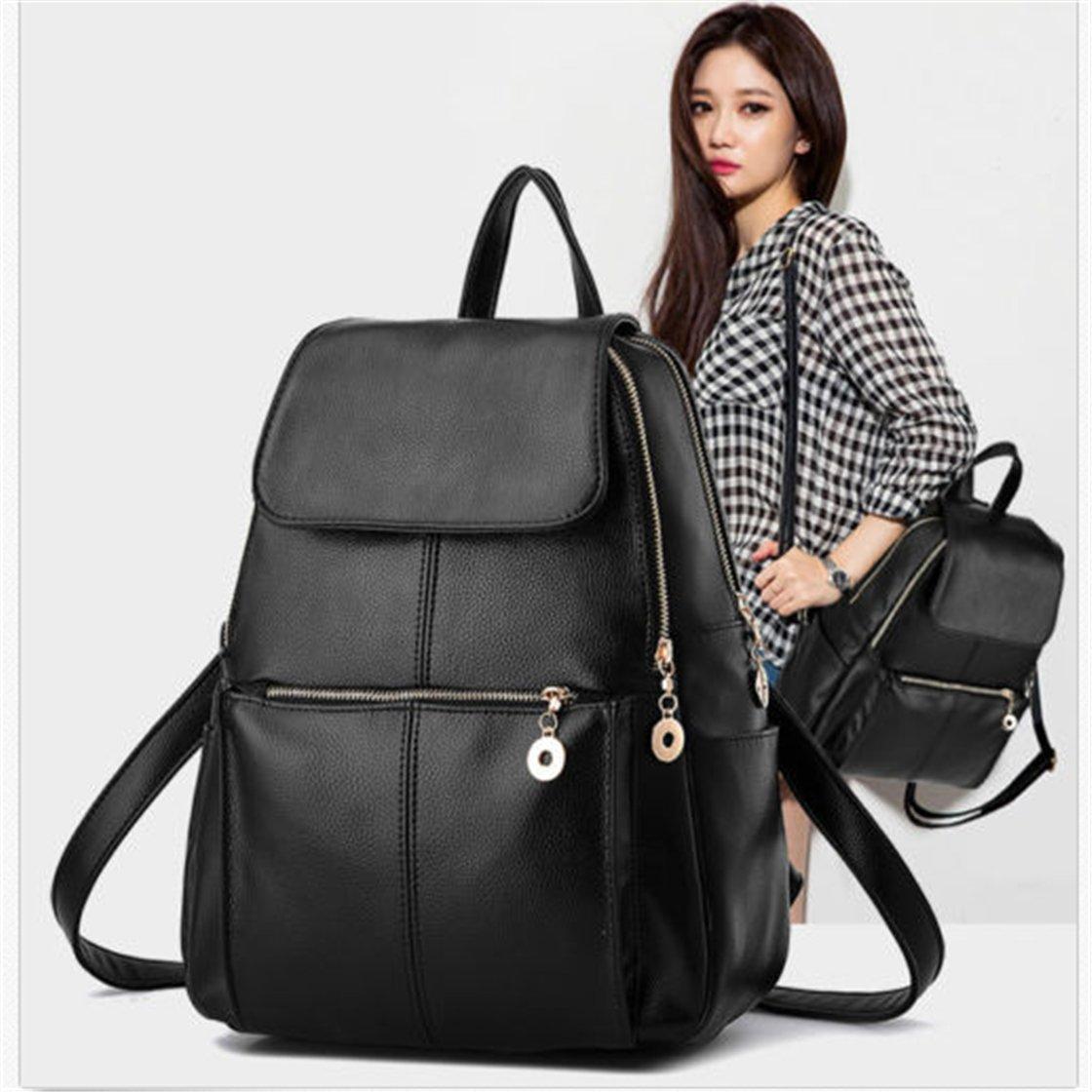 TraveT PU Leather Satchel Backpack School Bag Travel Shoulder Handbag