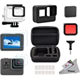 Deyard 25 in 1 Accessory Kit for GoPro Hero (2018) GoPro Hero 6 Hero 5 with Shockproof Small Case Bundle for GoPro Hero (2018) GoPro Hero 6 Hero 5 Action Camera