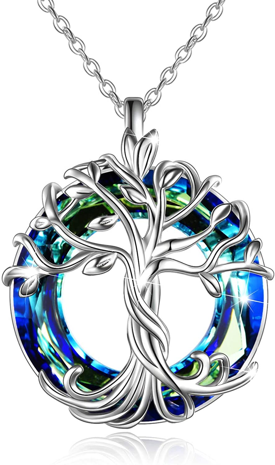 Stunning Solid 925 Sterling Silver Crystal Infinity Pendant Charm Necklace Gift