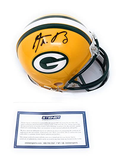 ad69bf2b6b0 Aaron Rodgers Green Bay Packers Signed Autograph Mini Helmet Steiner Sports  Certified