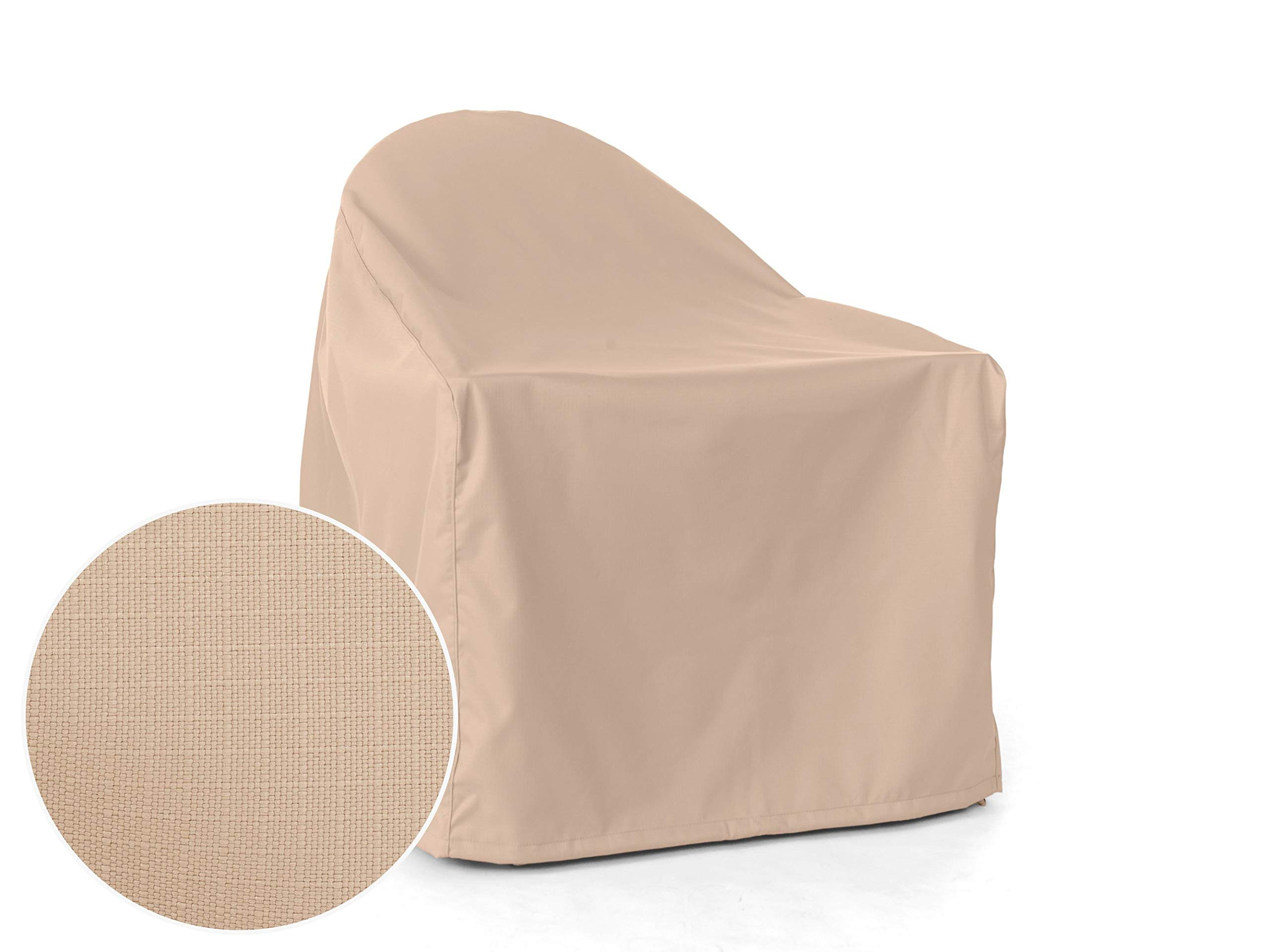 CoverMates: Adirondack Chair Cover - Fits 32 Inch Width x 34 Inch Depth x 38 Inch Height - Ultima Ripstop - 600D UV/Water Resistant Poly - Covered Vent - 4 Buckle Straps - 7YR Warranty- Ripstop Tan