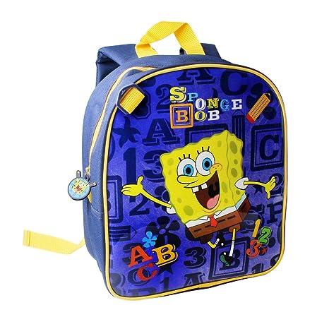 c8d920442b Spongebob School Bag Rucksack Backpack Boys Girls Kids Sports Swim Travel  Work (120952 Navy)  Amazon.co.uk  Luggage