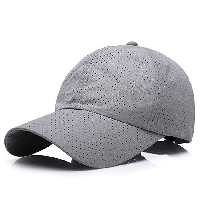0df3cd986838f 2018 Solid Summer Cap Snapback Baseball Cap Men Breathable Mesh Hat Gorras  Para Hombre Bone Casquette Baseball Caps at Amazon Men s Clothing store