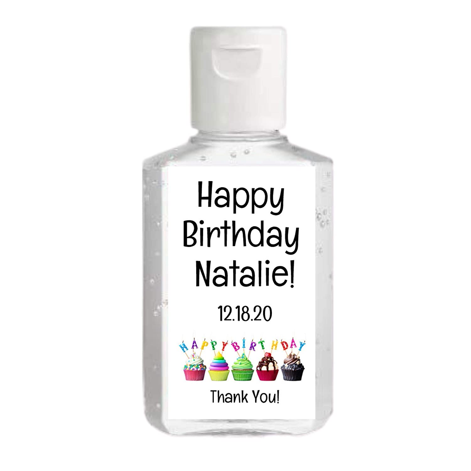 Empty Hand Sanitizer Bottles Favors 0002 Hand Sanitizer Labels For Birthday Favors Personalized Birthday Hand Sanitizer Labels Stickers