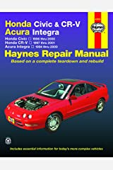 Honda Civic, CR-V & Acura Integra 1994 thru 2001 Haynes Repair Manual: Honda Civic - 1996 thru 2000 - Honda CR-V - 1997-2001 - Acura Integra 1994 thru 2000 Paperback