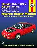 Honda Civic, CR-V & Acura Integra 1994 thru 2001 Haynes Repair Manual: Honda Civic - 1996 thru 2000 - Honda CR-V - 1997…