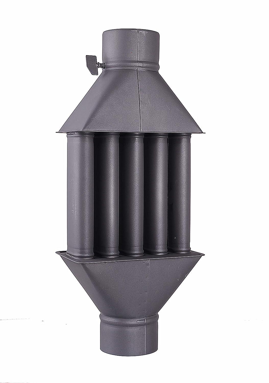 Intercambiador de calor de chimenea Diplomat/Intercambiador de aire caliente, enfriador de gas de escape, diámetro de 130 m, 5 tubos con amortiguador: ...