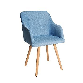 Design Stuhl Hellblau Scandinavia Meisterstück Buche Gestell Mit