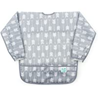 Bumkins Waterproof Long Sleeved Art Smock, Gris Chevron, 3-5 years