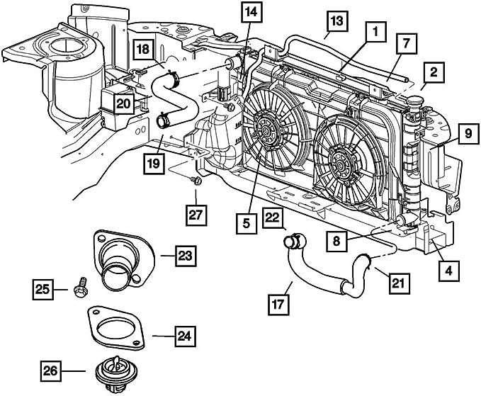 Radiator Hose Clamp Mopar 55037660AA