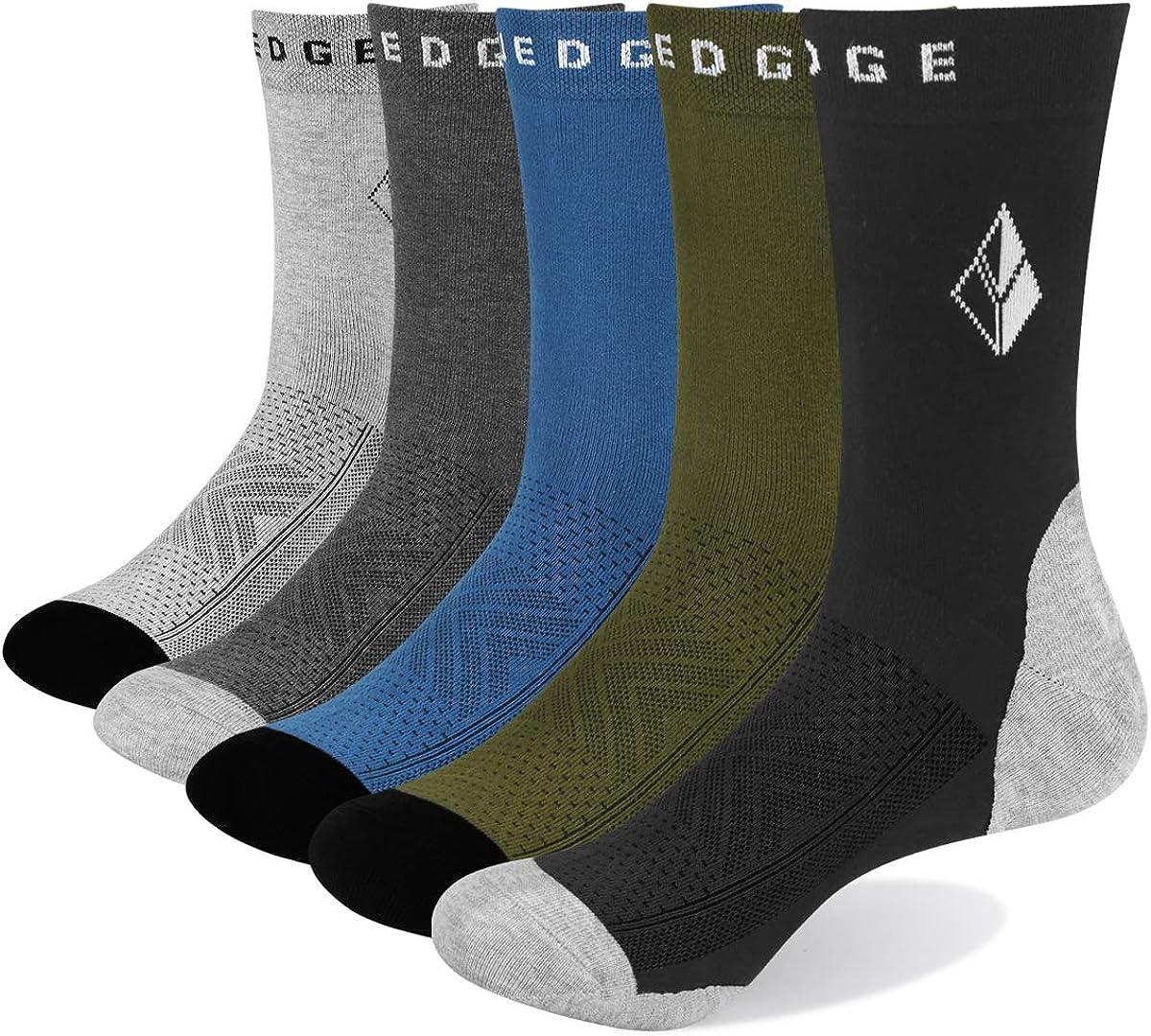 YUEDGE 5 Pares Casuales de Algod/ón para Hombres Calcetines Transpirables Calcetines de Trabajo