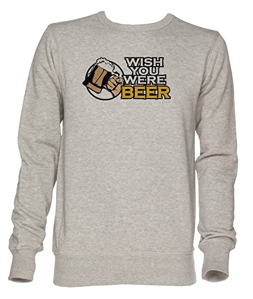 Wish You were Beer Unisexo Gris Jersey Sudadera Hombre Mujer Tamaño XXL | Jumper For Men and Women Size XXL: Amazon.es: Ropa y accesorios