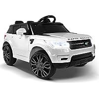 RIGO Kids Ride On Car RANGE ROVER Licensed Inspired Toy Car Remote Control-White