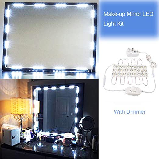 dressing table lighting. Mirror LED Light Hollywood Style Makeup Kit Dressing Table With Power Adapter And Lighting I