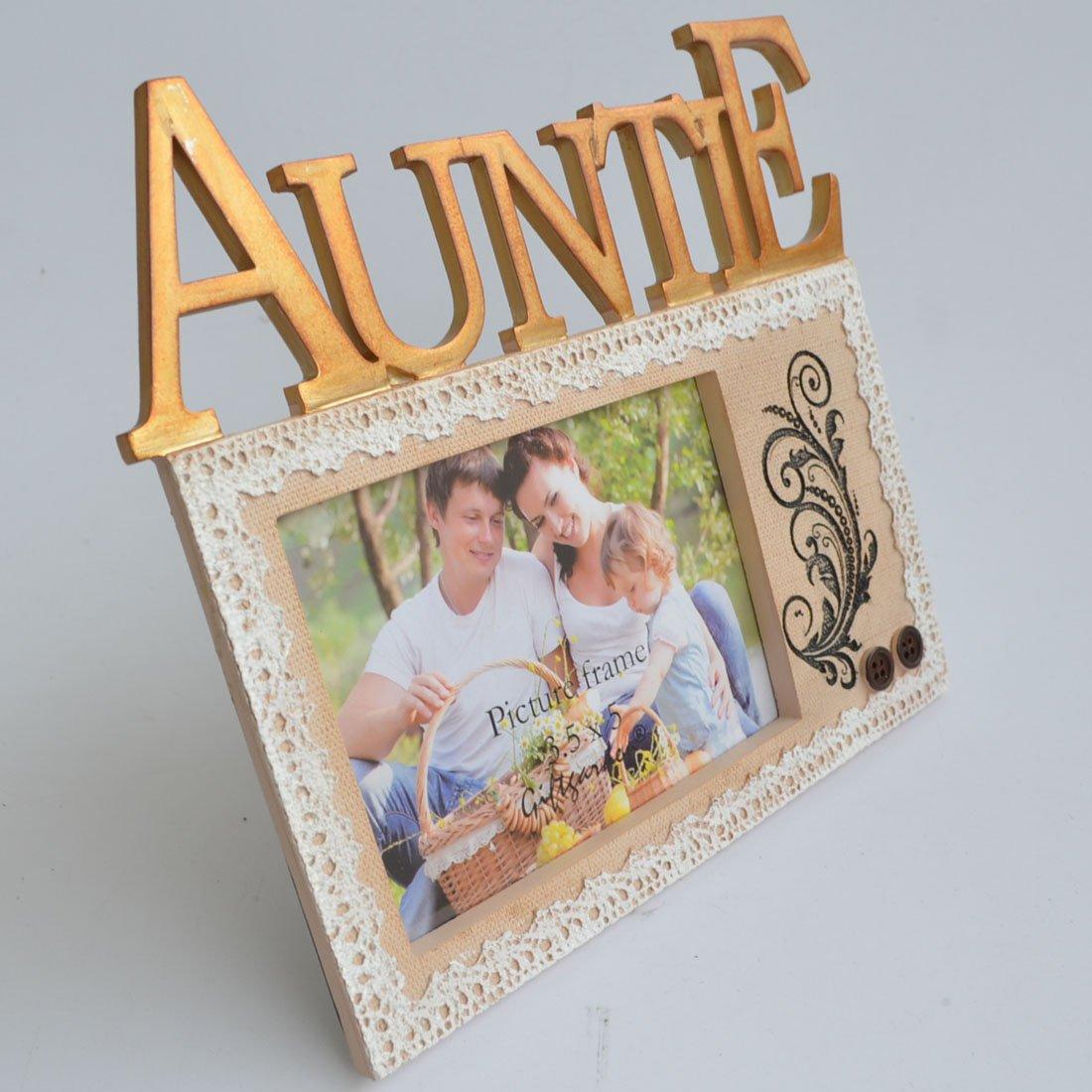 Amazon.de: Giftgarden 9x13 Kunstharz Bilderrahmen mit Auntie ...