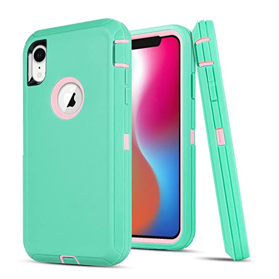 best authentic 82842 3b6d1 iPhone XR Case,UOVSI [6.1 inch] for iPhone XR Hybrid Protective Defender  3-Layer Design Heavy Duty Protection Shock-Resistant Dustproof Armor Case  ...