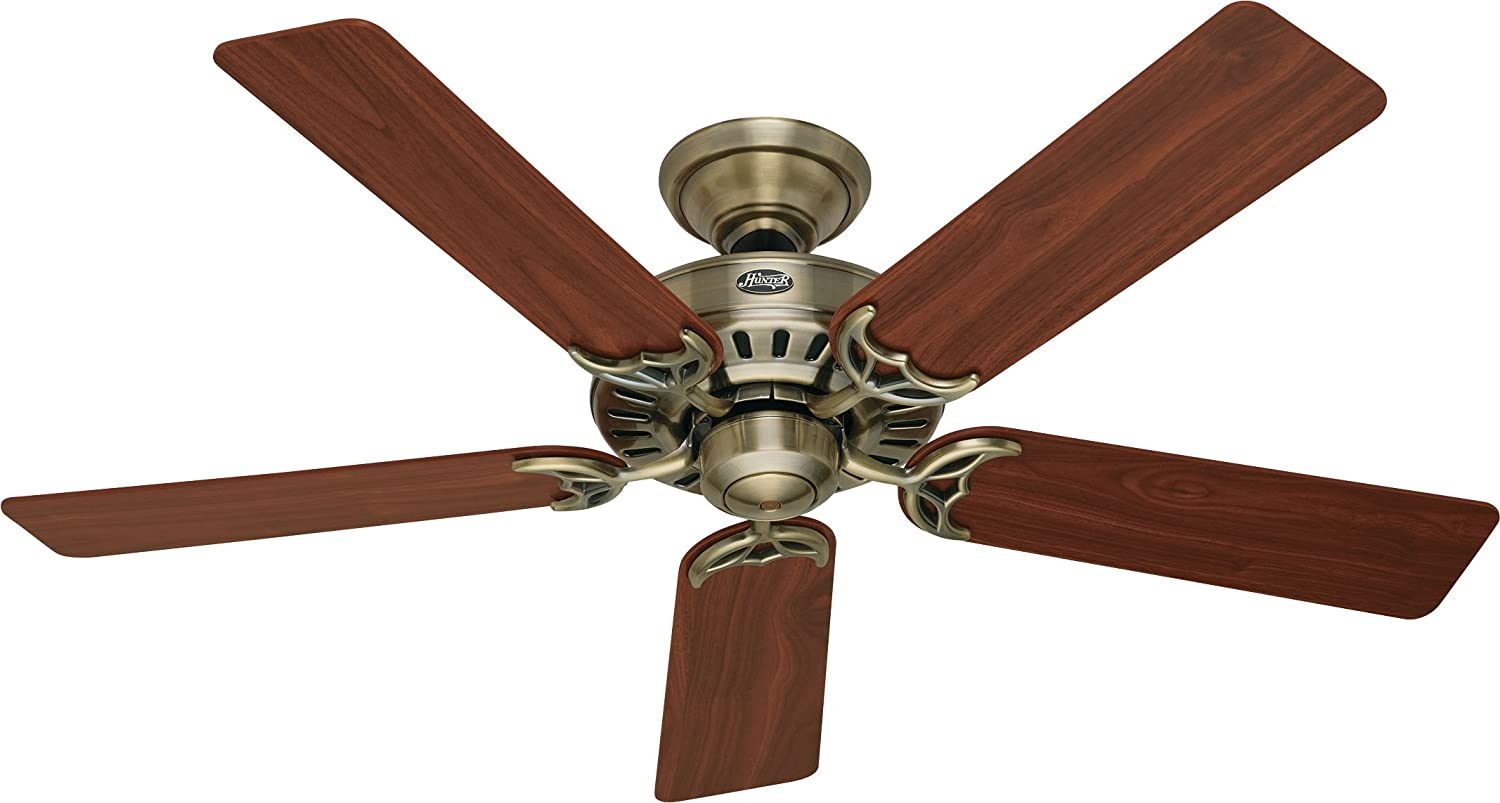 Hunter 53040 summer breeze 52 inch 5 blade ceiling fan antique hunter 53040 summer breeze 52 inch 5 blade ceiling fan antique brass with walnutmedium oak blades amazon audiocablefo