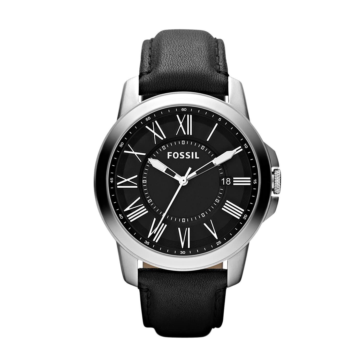 Amazon.com: Fossil Mens FS4745 Grant Analog Display Analog Quartz Black Watch: Fossil: Watches