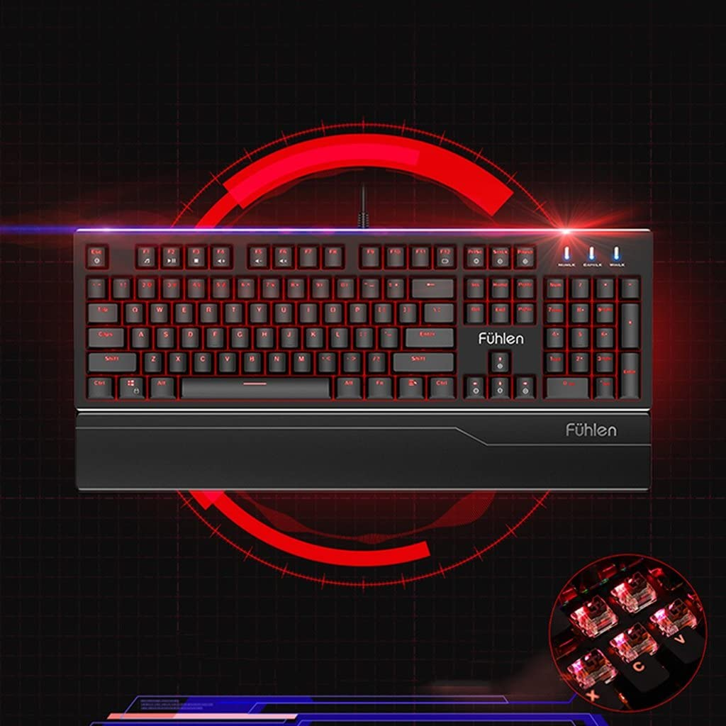 Color : Red Gaming Keyboard and Mouse and Headphone Kit LED Backlit Wired USB Keyboard and Mouse Combination for PC Computer Games Including Durable Mouse Pads