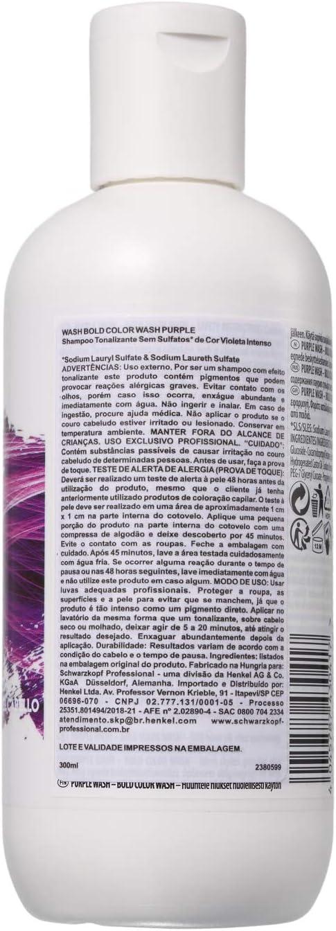 Schwarzkopf Bold Color Wash Champú Morado/Violeta Wash 300Ml