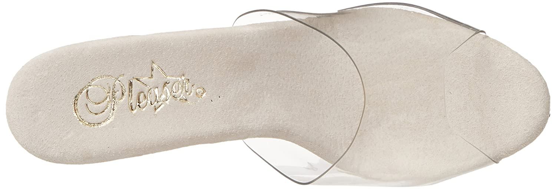 Pleaser Women's Stardust-701 Sandal B004JHIIU4 11 B(M) US|Clear/Silver Chrome