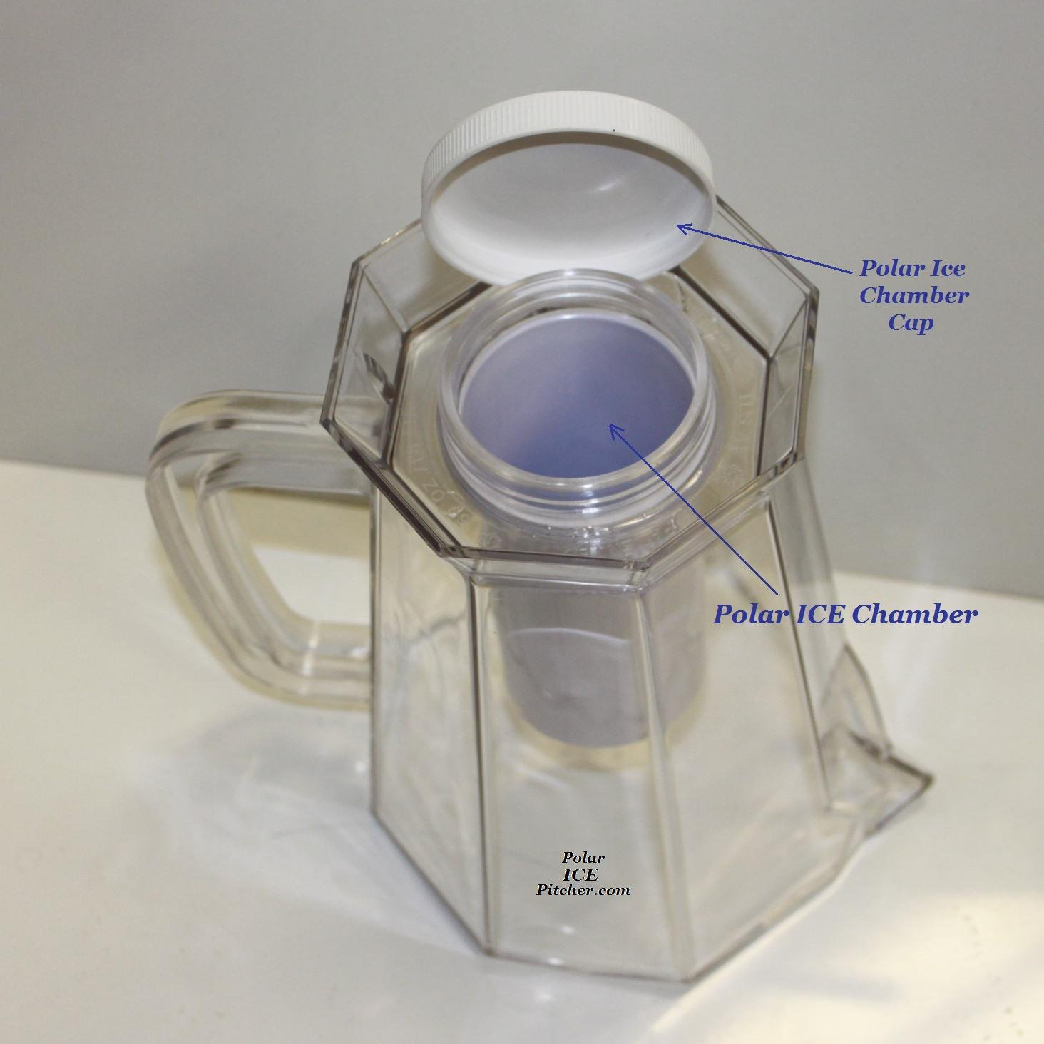 Polar ICE Pitcher with Aluminum Polar ICE Chamber Clear