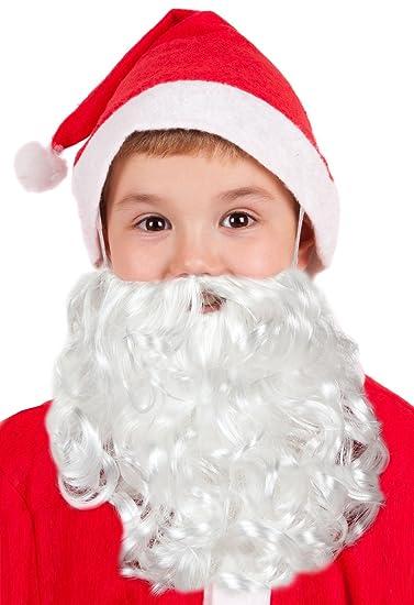 Santa Beard Kids Santa Beard Child Santa Hat With Beard Child Santa Beards  Kids  Amazon.in  Clothing   Accessories d242bb479ca