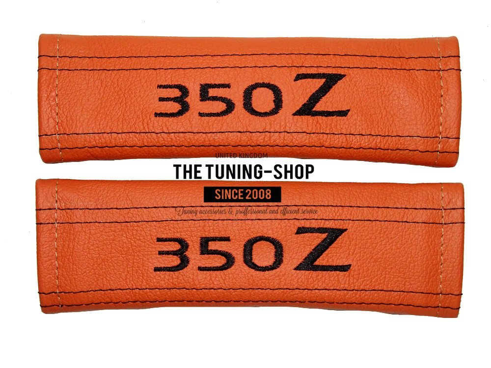 2 x Seat Belt Covers Pads Leather FR Style Embroidery For Seat FR