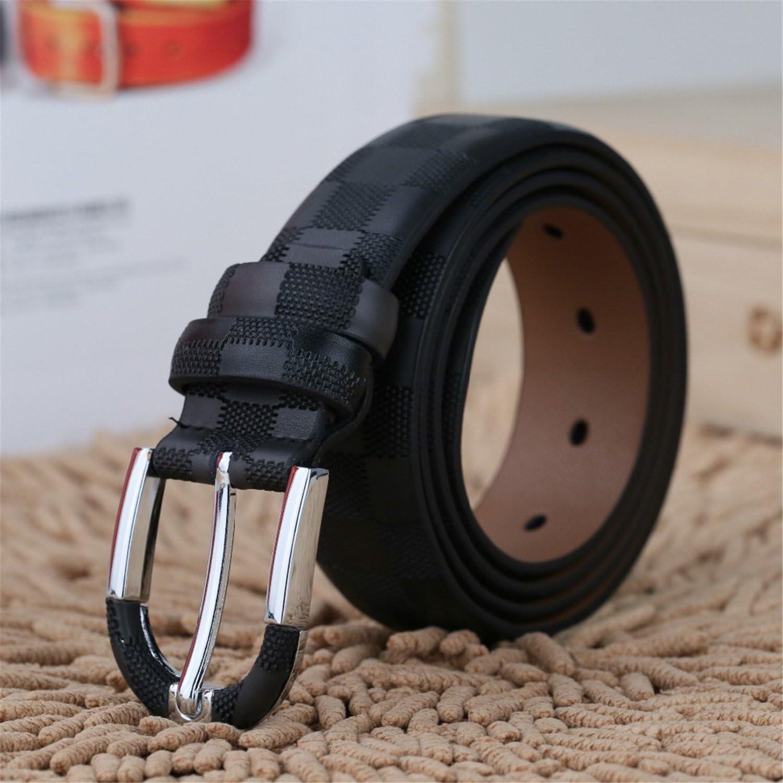 Susan1999 Fashionable Mens Belts Pin Buckle Belts Genuine Leather Black Brown 3.5Cm Belt