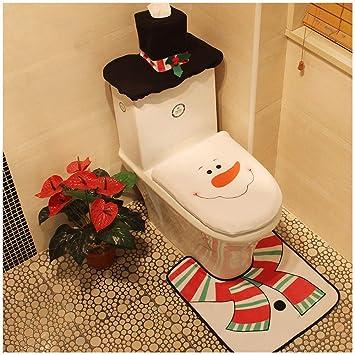 Peachy Snowman Santa Toilet Seat Cover Tissue Box Cover Tank Lid Cover And Rug Set Merry Christmas Decorations Fancy Bathroom Plush Felt Cute Festival Decor Forskolin Free Trial Chair Design Images Forskolin Free Trialorg