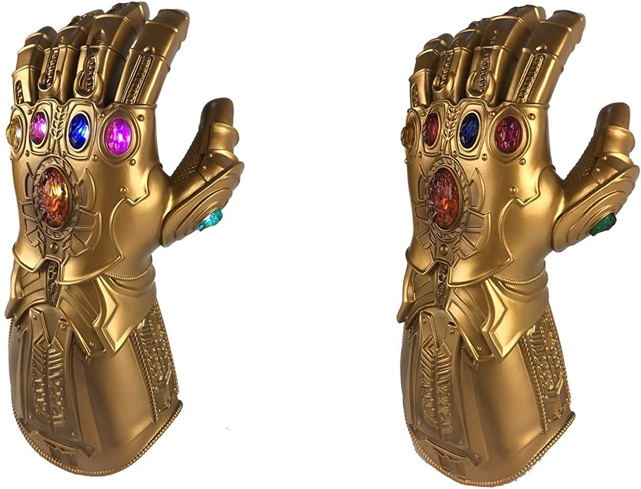 Thanos Infinity Gauntlet Light Gloves LED Stone Removable Avengers Cosplay PVC