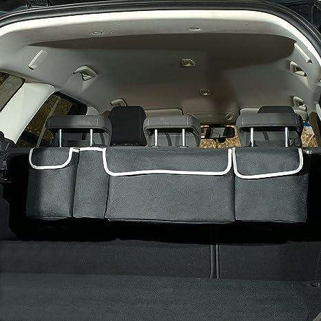 HCMAX 2 in 1 Car Backseat Trunk Organizer - 4 Pocket Children Toys Hanging Bag -