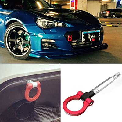 DTOUCH Racing Sports Red Track Racing Style Aluminum Tow Hook for Scion FR-S Toyota 86 Subaru BRZ Impreza WRX Sti, etc (2303#-RED): Automotive