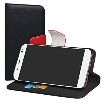 LiuShan BQ Aquaris VS Plus Funda, PU Cuero Book Style Billetera Cartera Monedero con Soporte Funda Caso para BQ Aquaris VS Plus/Aquaris V Plus ...