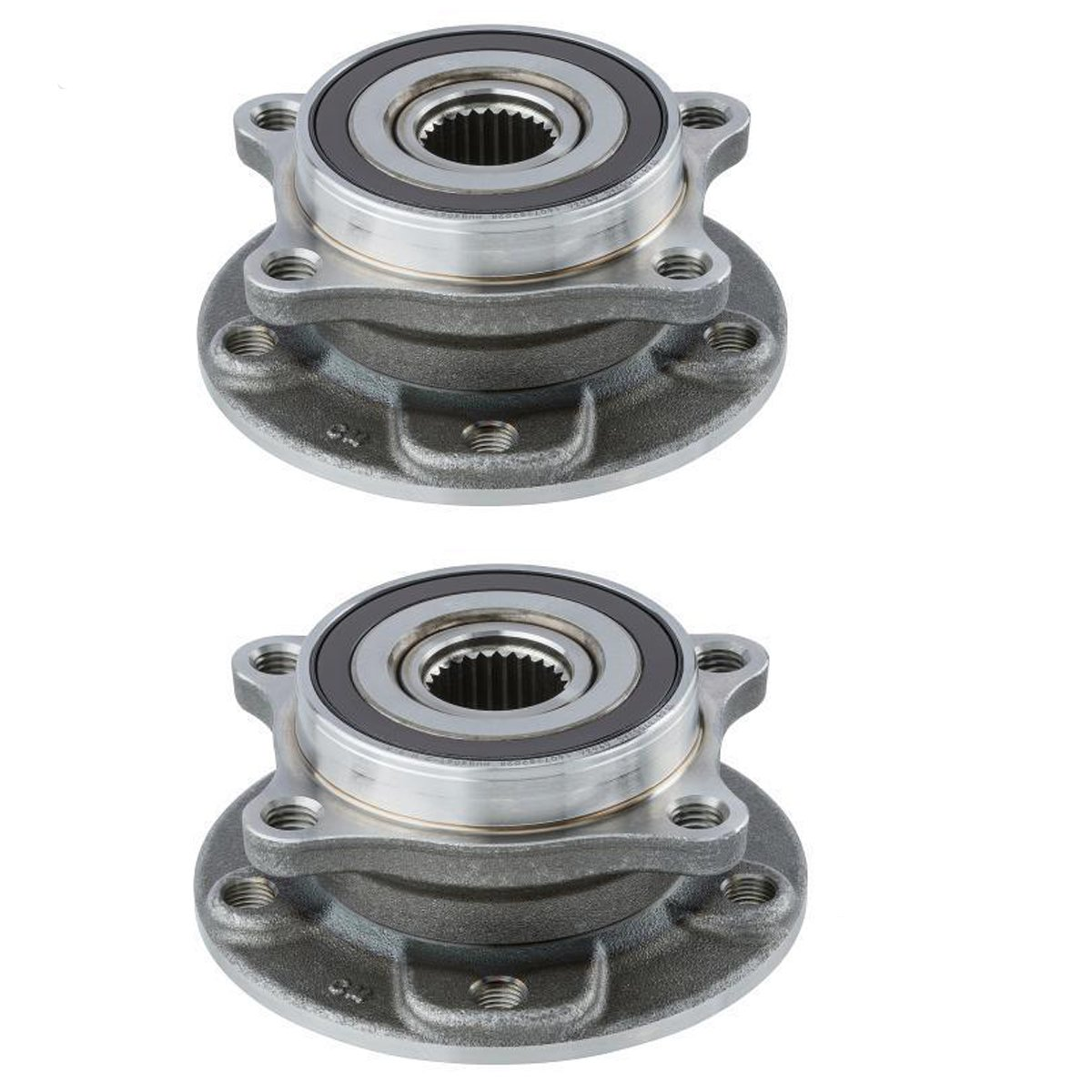 Detroit Axle - New Set (2) Front Driver & Passenger Wheel Hubs and Bearings for 2013 2014 2015 2016 Dodge Dart and 2015 2016 Chrysler 200